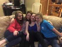 abbie, michaela, payton, and me